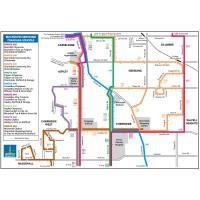 District Bus services map