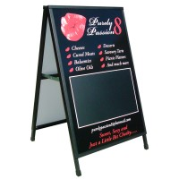 A-Board with writeable blackboard segment