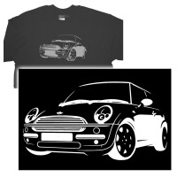 vectorised mini -  Job request here was to copy and improve on supplied T-shirt graphic