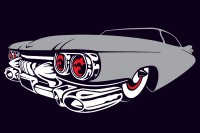 3 colour vector car - 