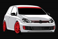 golf vector 4 colour - 