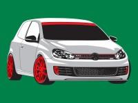 Golf Illustration -  5 Spot colour vector illustration -  Light Grey, Dark Grey,