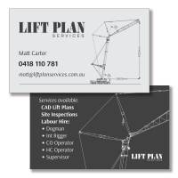 Lift Plan  -  Simple Greyscale layout echoing the engineering plans