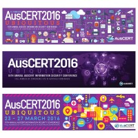"""infographics designs -  Brief for this event banner design was the title """"Ubiquitous&quo"""