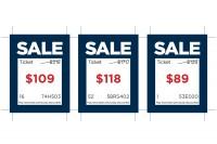 Datamerged price tags